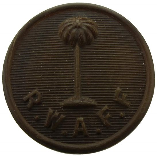 Royal West African Frontier Force RWAFF Royal West African Frontier Force RWAFF PLASTIC Bakelite Tunic Button - 19mm