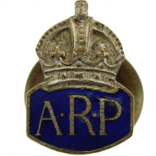 Air Raid Precautions ARP WW2 ARP Warden (Air Raid Precautions) SMALL Enamel Lapel Badge