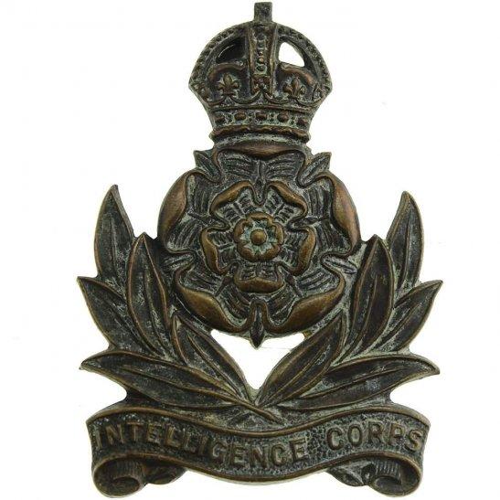 WW2 Intelligence Corps OFFICERS Bronze Cap Badge
