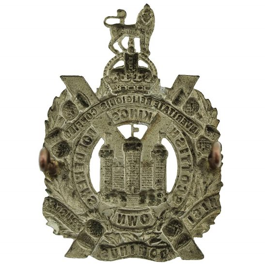additional image for WW1 Kings Own Scottish Borderers Regiment KOSB (King's) Cap Badge