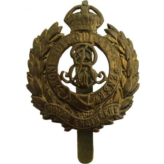 Royal Engineers EDWARDIAN Royal Engineers Corps (Edward VII) Cap Badge