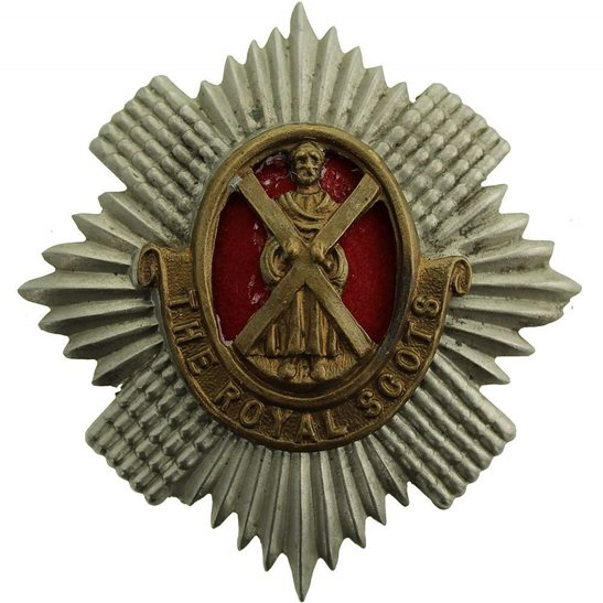 Royal Scots WW2 Royal Scots Regiment Scottish Cap Badge