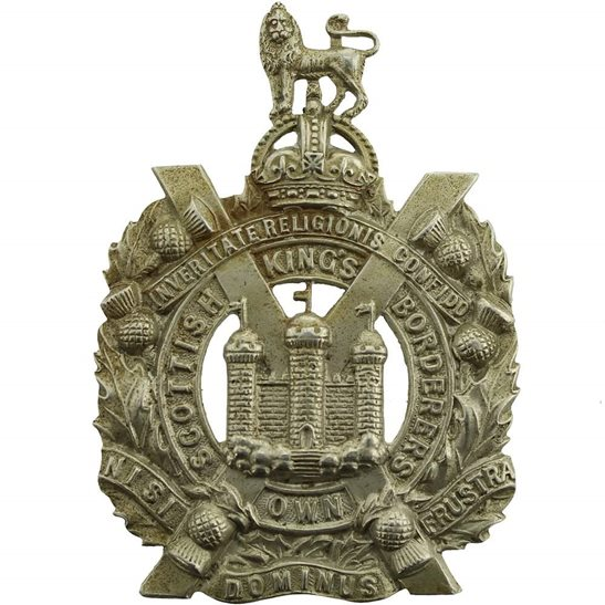 Kings Own Scottish Borderers WW1 Kings Own Scottish Borderers Regiment KOSB (King's) Cap Badge