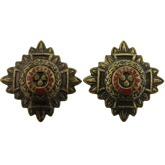 WW1 British Army Officers Insignia Pips - Rank of 2nd Lieutenant Set PAIR - 30mm Diagonally