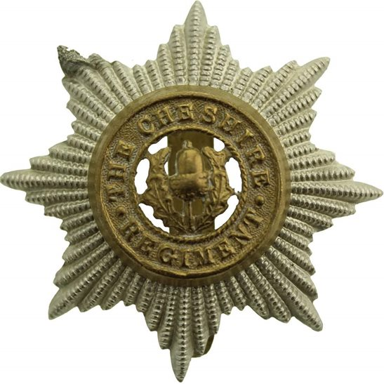 Cheshire Regiment WW2 Cheshire Regiment Cap Badge