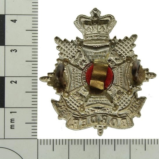 additional image for VICTORIAN The Border Regiment Forage Cap Badge - Queen Victoria Crown