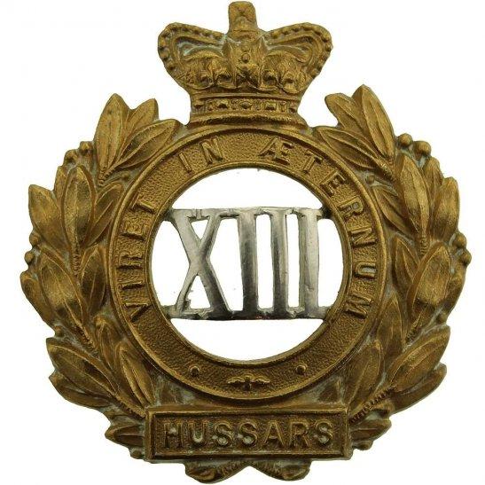 13th Hussars VICTORIAN 13th Hussars Regiment Cap Badge - Queen Victoria Crown