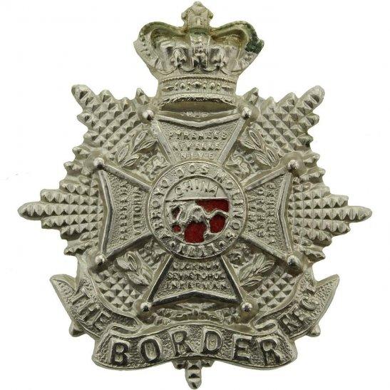 Border Regiment VICTORIAN The Border Regiment Forage Cap Badge - Queen Victoria Crown