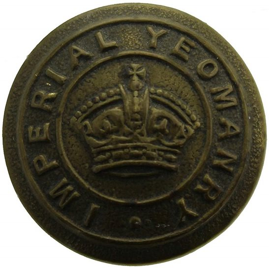 Imperial Yeomanry Imperial Yeomanry London Regiment SMALL Tunic Button - 19mm