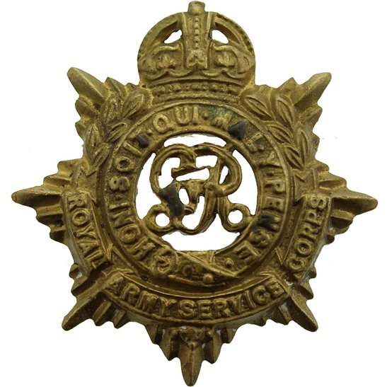 Royal Army Service Corps RASC WW1 Royal Army Service Corps RASC (George V) Collar Badge