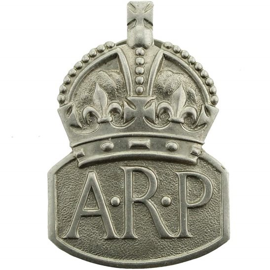 Air Raid Precautions ARP WW2 ARP Warden (Air Raid Precautions) Lapel Badge - MENS