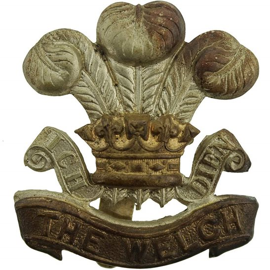 Welch Regiment WW2 Welch Regiment (Welsh) Cap Badge