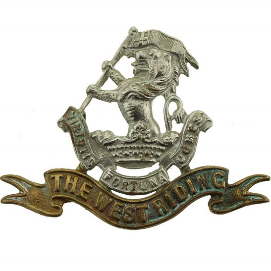 West Riding Duke of Wellingtons West Riding Regiment Cap Badge - LUG VERSION