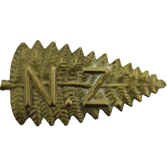 WW1 New Zealand Army Boer War / Victorian New Zealand Army Slouch Hat Cap Badge