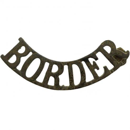 Border Regiment UK Dug Detecting Find - WW1 Border Regiment Relic Shoulder Title