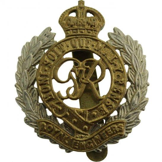 Royal Engineers WW2 Royal Engineers Corps (George VI) BI-METAL Cap Badge