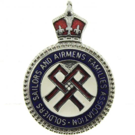 Soldiers, Sailors & Airmens Families Association Lapel Pin Badge