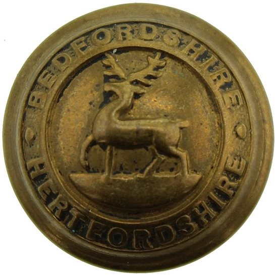 Bedfordshire and Hertfordshire WW2 Bedfordshire and Hertfordshire Regiment SMALL Tunic Button - 19mm