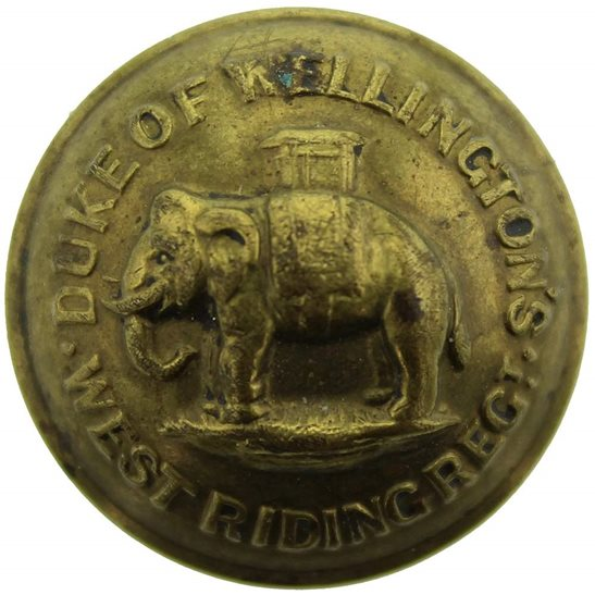 West Riding The Duke of Wellingtons West Riding Regiment Tunic Button - 26mm