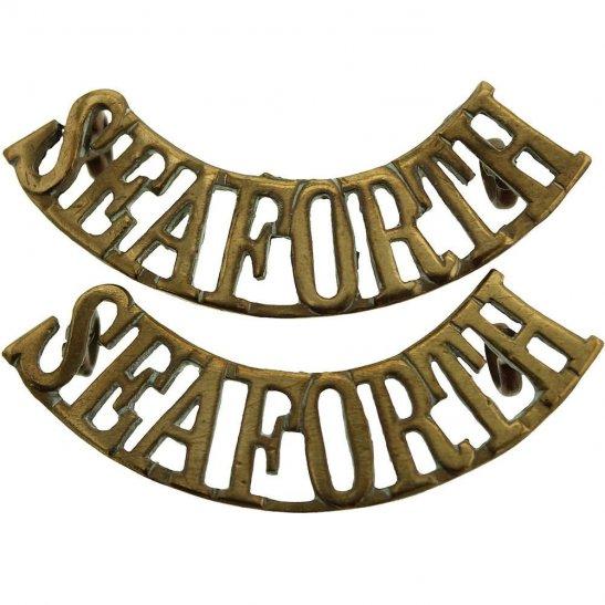 Seaforth Highlanders Seaforth Highlanders Scottish Regiment Shoulder Title PAIR