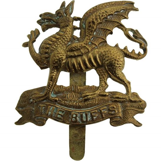 Buffs (Royal East Kent) WW1 Royal East Kent (The Buffs) Regiment Cap Badge