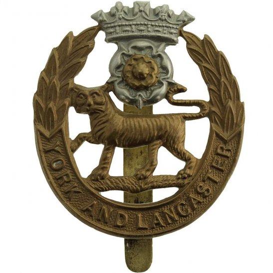 York & Lancaster York and Lancaster Regiment Cap Badge