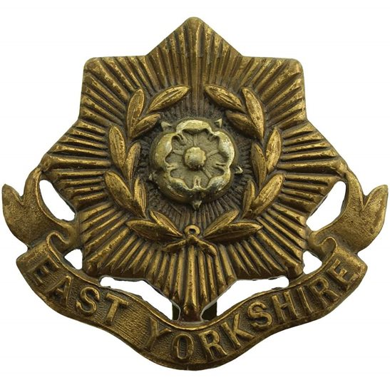 East Yorkshire WW1 East Yorkshire Regiment Cap Badge