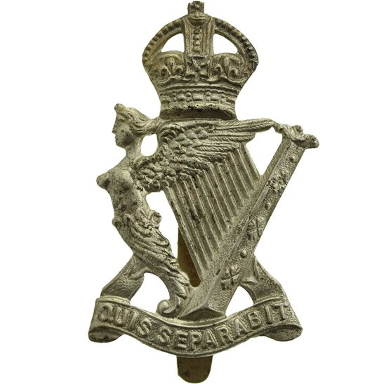 Royal Irish Rifles WW1 Royal Irish Rifles Regiment Cap Badge