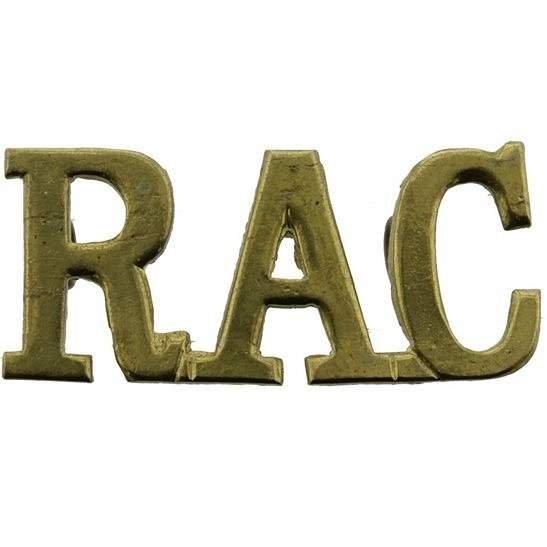 Royal Armoured Corps WW2 Royal Armoured Corps RAC Shoulder Title