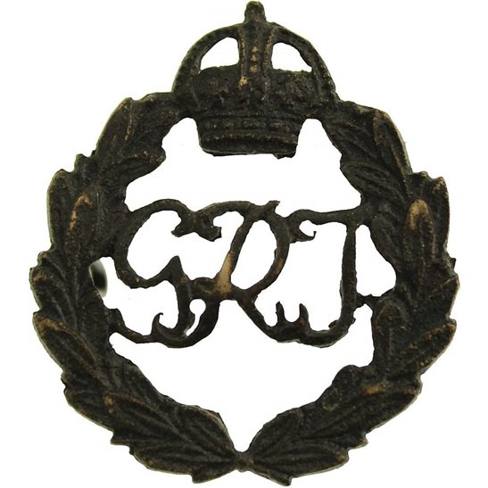 British Indian Army WW1 Indian Army General List Corps India Service Collar Badge