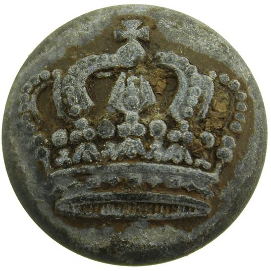 WW1 German Army WW1 Imperial German Soldiers Prussian Crown Tunic Button - 23mm
