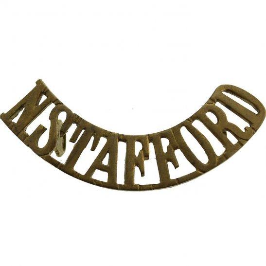 North Staffordshire WW1 North Staffordshire (Stafford) Regiment Shoulder Title