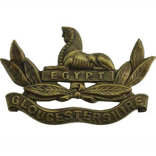 Gloucestershire Regiment Gloucestershire Regiment OFFICERS Collar Badge