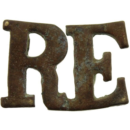 Royal Engineers UK Dug Detecting Find - WW1 Royal Engineers Corps Relic Shoulder Title