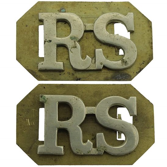 Royal Scots Royal Scots (Scottish) Regiment Shoulder Title PAIR