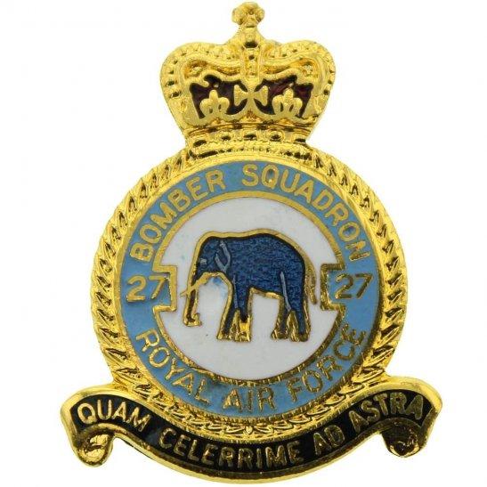 RAF Squadrons 27 Squadron Royal Air Force RAF Lapel Badge