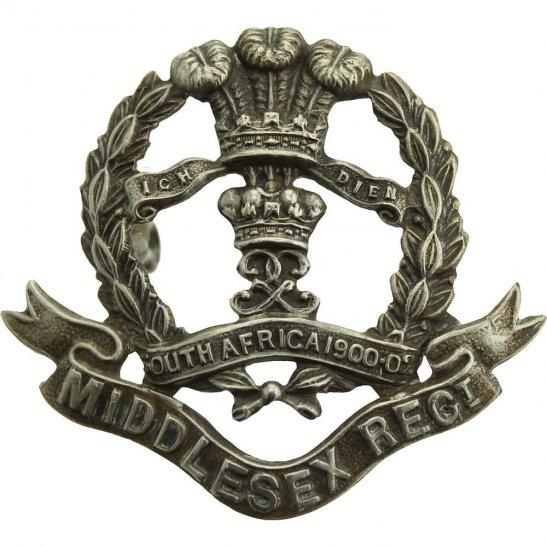 Middlesex Regiment Middlesex Regiment 7th, 8th, 9th Volunteer Battalions WHITE METAL Cap Badge