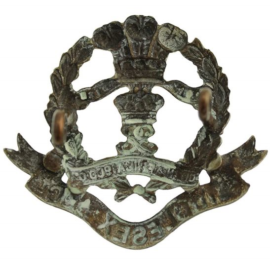 additional image for Middlesex Regiment 7th, 8th, 9th Volunteer Battalions WHITE METAL Cap Badge