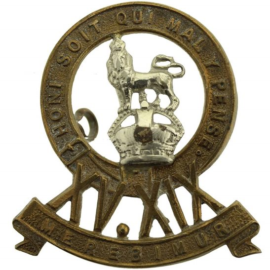 15th / 19th The Kings Royal Hussars WW2 15th / 19th The Kings Royal Hussars Regiment King's Cap Badge