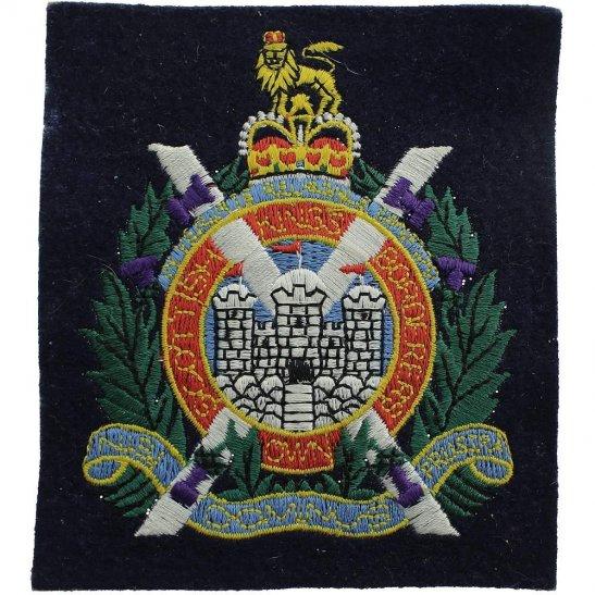 Kings Own Scottish Borderers Kings Own Scottish Borderers KOSB Cloth Veterans Blazer Badge Patch