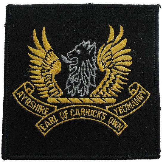 Ayrshire Yeomanry Ayrshire Yeomanry (Earl of Carrick's Own) Regiment Cloth Veterans Blazer Badge Patch