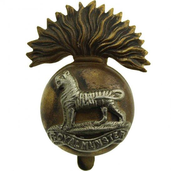 Royal Munster Fusiliers WW1 Royal Munster Fusiliers RMF Irish Regiment Cap Badge