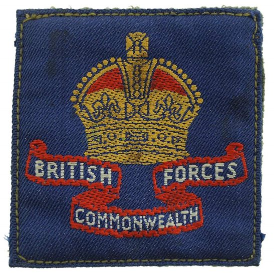 WW2 Australian Army WW2 Australian British Commonwealth Forces Cloth Formation Sign Patch Badge