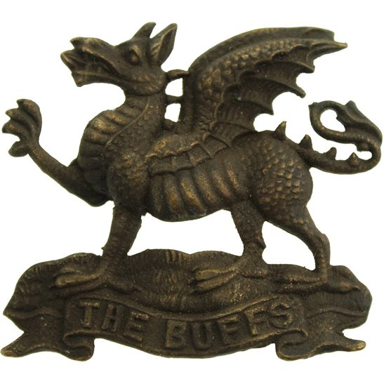 Buffs (Royal East Kent) UK Dug Detecting Find - WW1 Buffs (Royal East Kent) Regiment Relic Cap Badge