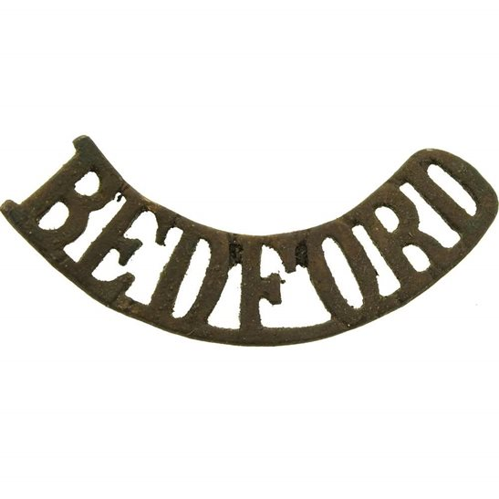 Bedfordshire Regiment UK Dug Detecting Find - Bedfordshire Regiment Bedford Relic Shoulder Title Badge