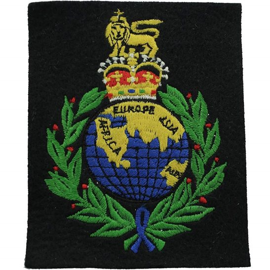 Royal Marines Royal Marines Corps Regiment Cloth Veterans Blazer Badge Patch