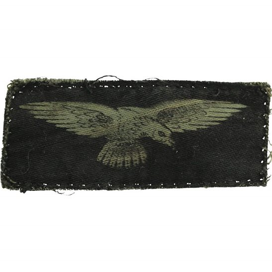 Royal Air Force RAF WW2 Royal Air Force RAF Eagle PRINTED Cloth Shoulder Title Badge Flash