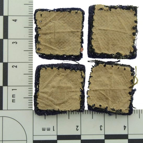 additional image for WW2 British Army Officers CLOTH Insignia Pips - Rank of Lieutenant Set PAIR
