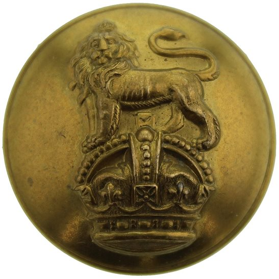 Royal West Kent Queens Own Royal West Kent Regiment Tunic Button - 26mm