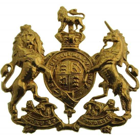 Home Counties Reserve VICTORIAN Home Counties Reserve Regiment Collar Badge